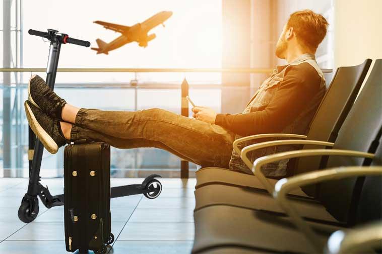 viaggiare in aereo con il monopattino elettrico